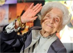 Rita Levi Montalcini is an Italian neurologist who, together with colleague Stanley Cohen, received the 1986 Nobel Prize in Physiology or Medicine for their discovery of Nerve growth factor (NGF). AND she's a  style icon.