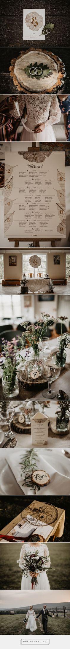 R&M Wedding Graphic Designs on Behance by Floresk Design / Virág Veszteg Photos: All That Makes You Happy