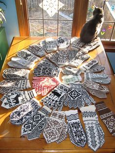 Norwegian mitten patterns
