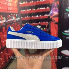 2eb106d6eca Puma Rihanna Suede Creepers Blue White 361005-01 36-44 Women men Authentic  AyJNr