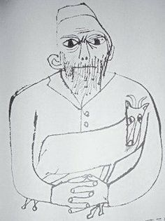A Simple Jew: Ben Shahn. I this piece was interesting due to the lines. He created expression with line thickness as well as it not being realistic.