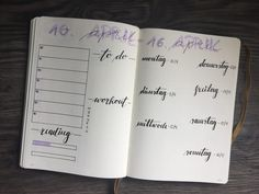Bullet Journal Wochenübersicht, Bullet Journal Weekly Spread