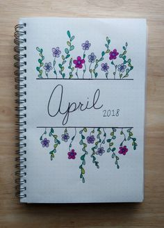 Monthly Spread 2018 It's finally spring! Check out my monthly spread I posted on Easter Sunday that includes trackers and goals.It's finally spring! Check out my monthly spread I posted on Easter Sunday that includes trackers and goals. Bullet Journal School, Monthly Bullet Journal Layout, April Bullet Journal, Bullet Journal Titles, Bullet Journal Junkies, Bullet Journal Inspiration, Journal Pages, Filofax, Hand Lettering