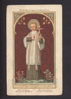 Saint Louis-Marie Grignion de Montfort antque  holy card  Bruges edit