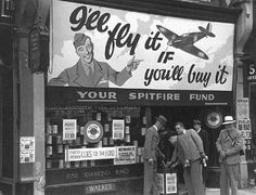 George Rodger G. World War II. The Blitz. A diamond merchant gives up his shop to raise money to finance production of Spitfire fighting planes. The Blitz, London History, Battle Of Britain, Old London, Vintage London, Women In History, Ww2 History, British History, London Life