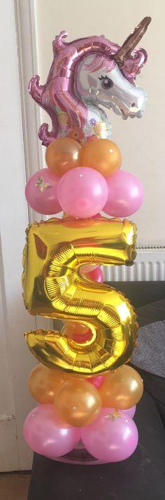Unicornio Unicorn Themed Birthday Party, Birthday Balloons, Unicorn Party, 1st Birthday Parties, Girl Birthday Decorations, Balloon Decorations, Birthday Surprise Kids, Rainbow Cakes, Kids Rainbow