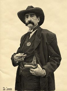 1876 Bob Coronato - Etchings, The real Seth Bullock, Deadwood.