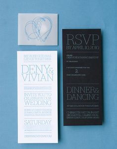 letterpress blue on white, foil blue on black, vellum belly, sticker closure 1x1.trans