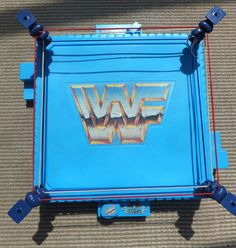 WWF (WWE/WCW) - BLUE WRESTLING RING - HASBRO - Retro/vintage toy - FATHERS DAY