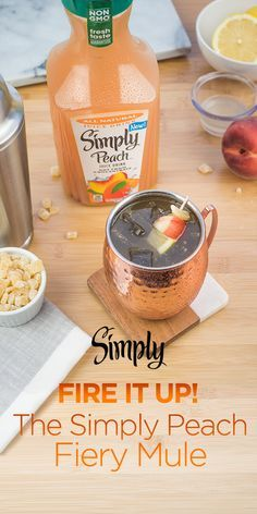 Toast to summer with our refreshing all-natural Simply Peach Fiery Mule.