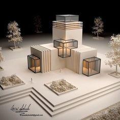 Maquette Architecture, Architecture Portfolio Layout, Concept Models Architecture, Architecture Model Making, Conceptual Architecture, Architecture Concept Drawings, Modern Architecture Design, Interior Architecture, Origami Architecture