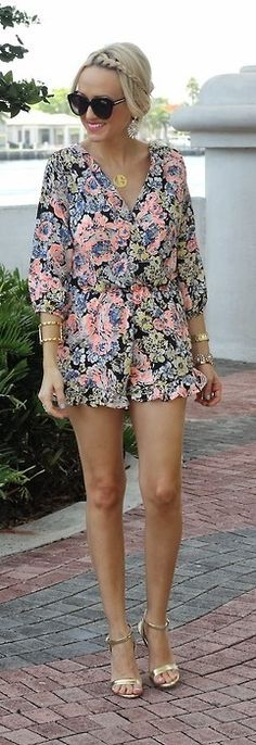 Floral Romper - A Spoonful Of Style