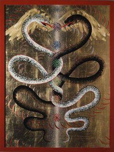 deux serpents alchimie