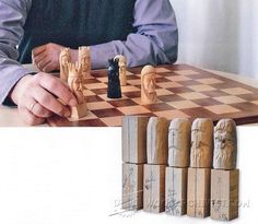Carving Chess Pieces - Wood Carving Patterns and Techniques | WoodArchivist.com