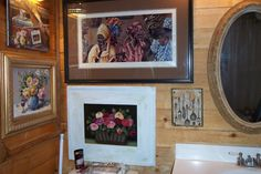 Horse Ranch Main House:  Photo of my bathroom - did I say I love artwork?