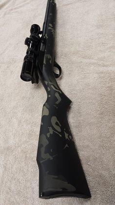 Multicam Black, Marlin, .22LR, Hydrographics, Hydrodipping, Water Transfer Printing, Camo, Camoflauge