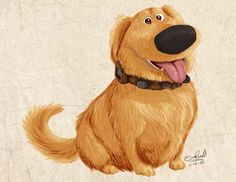 :] This is obviously Dug from Disney/Pixar's Up. My Name Is Dug Disney Pixar Up, Disney Dogs, Disney Films, Disney Fan Art, Walt Disney, Disney Sketches, Disney Drawings, Up 2009, Up The Movie