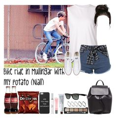 """""""Bike ride in Mullingar with my potato (Niall)"""" by jaynnelinsstyles ❤ liked on Polyvore featuring Zara, 3.1 Phillip Lim, Converse, Mansur Gavriel, Korres, MAKE UP STORE, ASOS, Vince Camuto and Ray-Ban"""