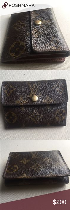 Louis Vuitton Ludlow limited edition wallet Authentic!! Limited edition Ludlow change purse/wallet. In excellent condition. Used for a while but it's too small for my everyday wallet and it's been sitting in my closet. Make it yours!! Louis Vuitton Accessories Key & Card Holders
