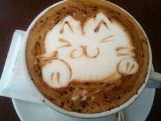 Cute #Cat #Coffee Art