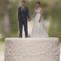 3d printed wedding cake - Google Search love in 3D #ShapewaysWedding
