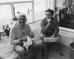 Photo d'actualité : American actors Cary Grant and Burt Lancaster ,...