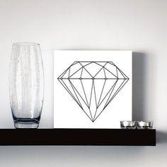 quadro decorativo diamonds