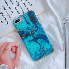 Fashion Oil Painting Art Blue Ocean Hard Phone Case Cover For Iphone 6 6S 7 Plus