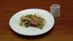 Lamb with Leek and Parsnip Puree and Brussels Sproutsundefined