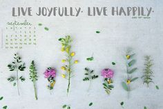 Free September Wallpaper Calendar. | #quote #live #happy #LDS