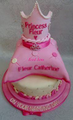 Princess naming day cake