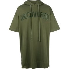Juun.J hooded T-shirt (33,635 PHP) ❤ liked on Polyvore featuring men's fashion, men's clothing, men's shirts, men's t-shirts, green, mens hooded t shirt, mens hooded shirts and mens green shirt