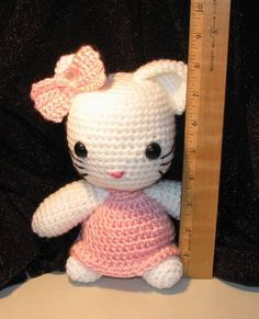 I had several requests for a larger version of my Hello Kitty Amigurumi. I finally worked the pattern and adjusted it for a doll that measu...