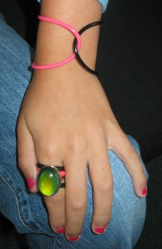 Jelly Bracelets and Mood Ring