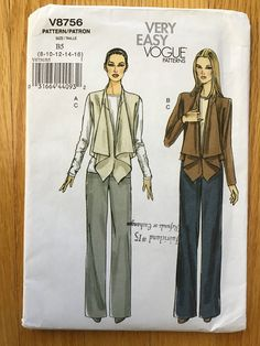 Vogue Patterns, Sewing Patterns, Hair Grips, Kwik Sew, Jacket Pattern, Cool Patterns, Easy, How To Wear, Jackets