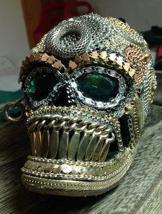 Mr Bone Chaingles Glam Skull Vintage Reclaimed/Refurbished Chains and Dangles Object De Art