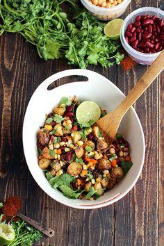 Tex-Mex Three Bean Potato Salad recipe - ilovevegan.com