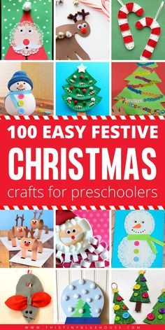 100 Easy Festive Christmas Crafts For Kids - Get into the holiday spirit with these 100 easy festive Christmas crafts for kids! Suitable for kiddos of all ages and super inexpensive to make, these crafts are guaranteed to provide hours of fun! Childrens Christmas Crafts, Frugal Christmas, Christmas Crafts For Kids To Make, Christmas Activities For Kids, Diy Christmas Gifts, Simple Christmas, Holiday Crafts, Kids Christmas, Kindergarten Christmas