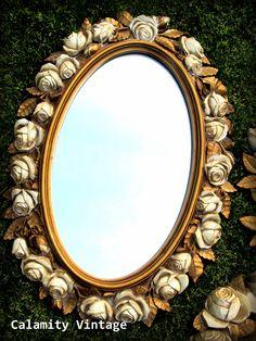 Vintage Syroco Mirror http://www.etsy.com/shop/CalamityVintage