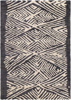 Surya Orinocco OOC1003 Black/Neutral Area Rug