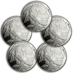 Peace Silver Dollar Design 1 oz .999 Silver Rounds SKU34189 Lot of 5