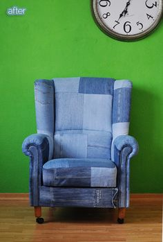 Better After: Denim makeover - you should see the before which was found on the curb.