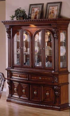 Buffet w/ Hutch, Fairmont Designs, Estates II Classic Dining Room Furniture, Modern Bedroom Furniture, Dining Room Design, Dining Furniture, Home Furniture, Furniture Design, Crockery Cabinet, Cabinet Decor, China Cabinet