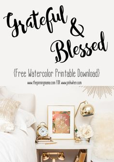 Grateful & Blessed Free Printable Download