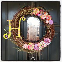 Spring Wreath, soon nice, tutorial is good and I love the fact it can stay up through summer