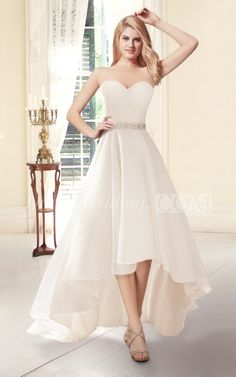 US$100.50-Sweetheart A line High Low Wedding Dress. http://www.doriswedding.com/sweetheart-a-line-high-low-wedding-dress-pHT_708799.html. Explore our best wedding dresses & gowns, wedding reception dress collection Doris Wedding 2016 dress style collection. Free custom made service of any dress design & Free Shipping! #weddingdress #DorisWedding.com