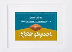 Jacksonville Jaguars Print. Custom NFL Children's Room or Nursery DIY Custom Design Print