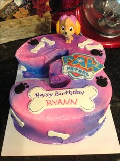Girly Paw Patrol birthday cake.