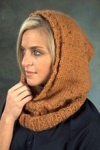 Knitting-Hooded Neckwarmer