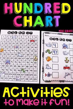 120 chart activities first grade or kindergarten - such fun ideas! Kindergarten Lesson Plans, Kindergarten Math Worksheets, Teaching Math, Math Activities, Educational Activities, 1st Grade Math, First Grade, Grade 1, Second Grade